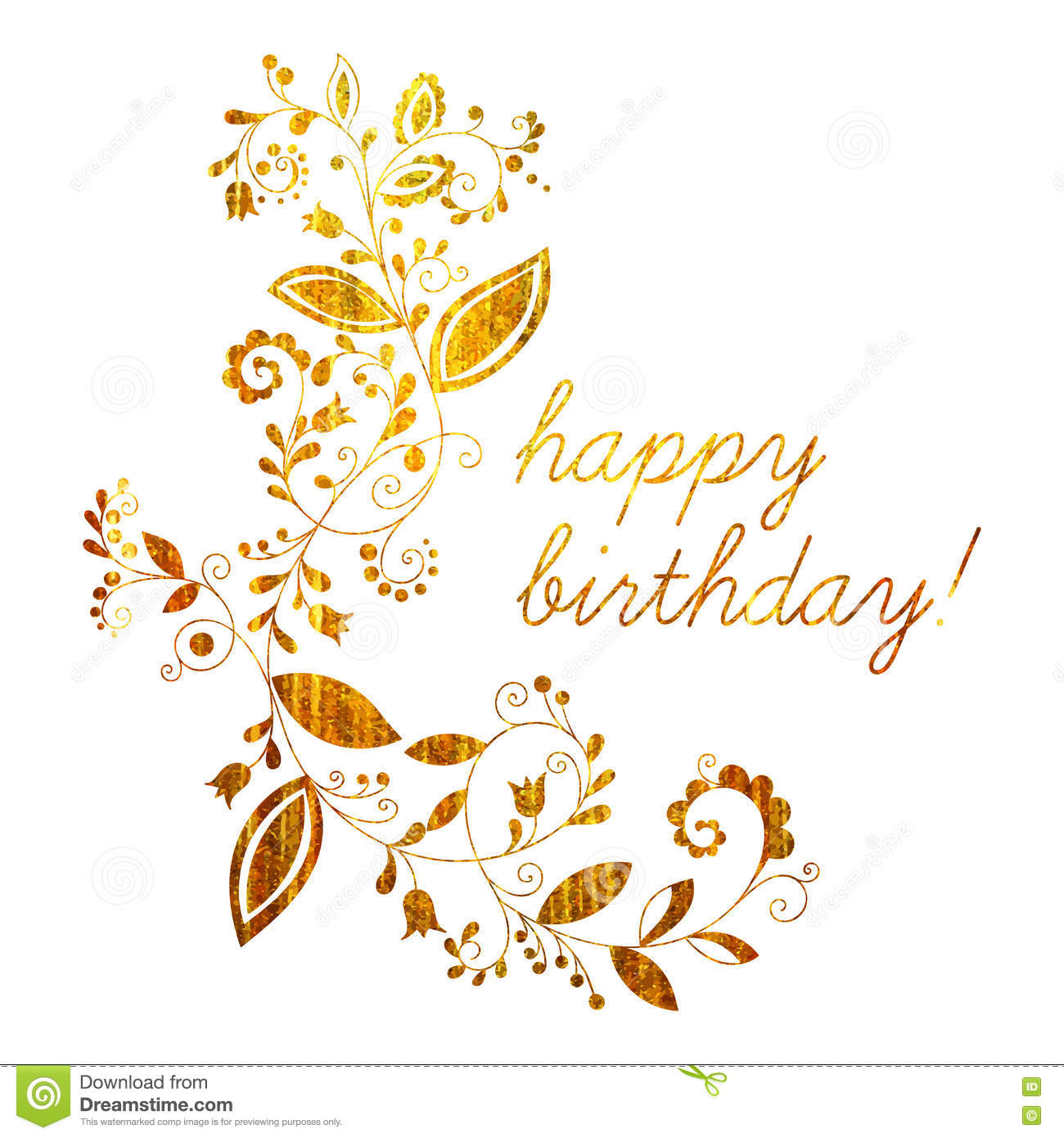 happy birthday you lettering gold frame stock vector gold greeting happy birthday card stock vector 146