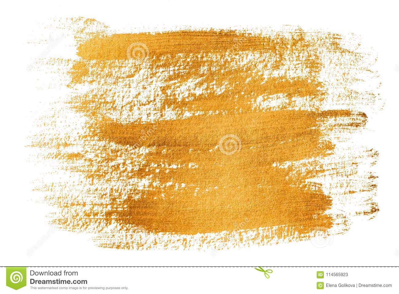 Gold Grunge Brushstrokes Background Stock Image - Image of
