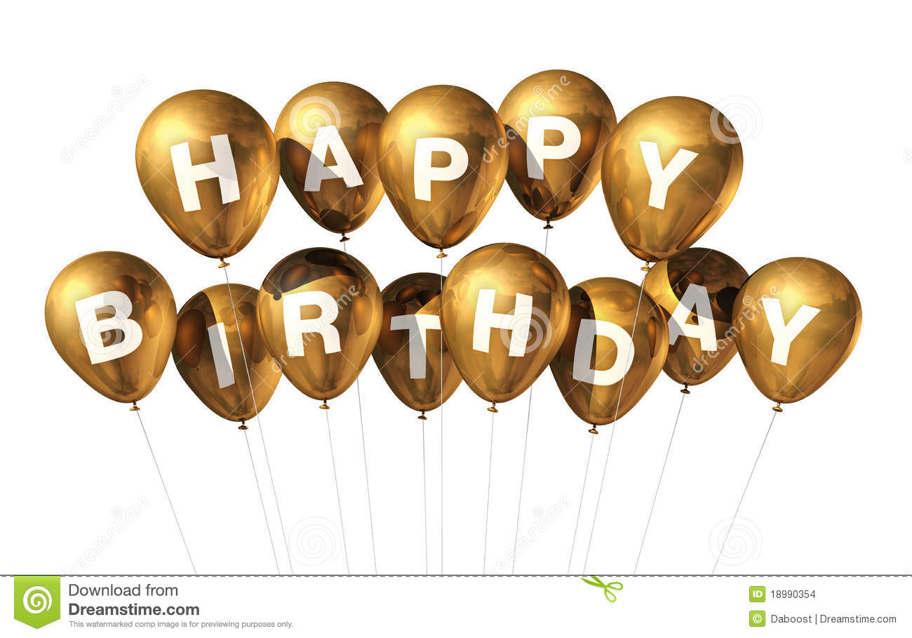 gold happy birthday balloons stock images image 18990354 welcome to fabulous las vegas sign vector Las Vegas Sign Logo Blank