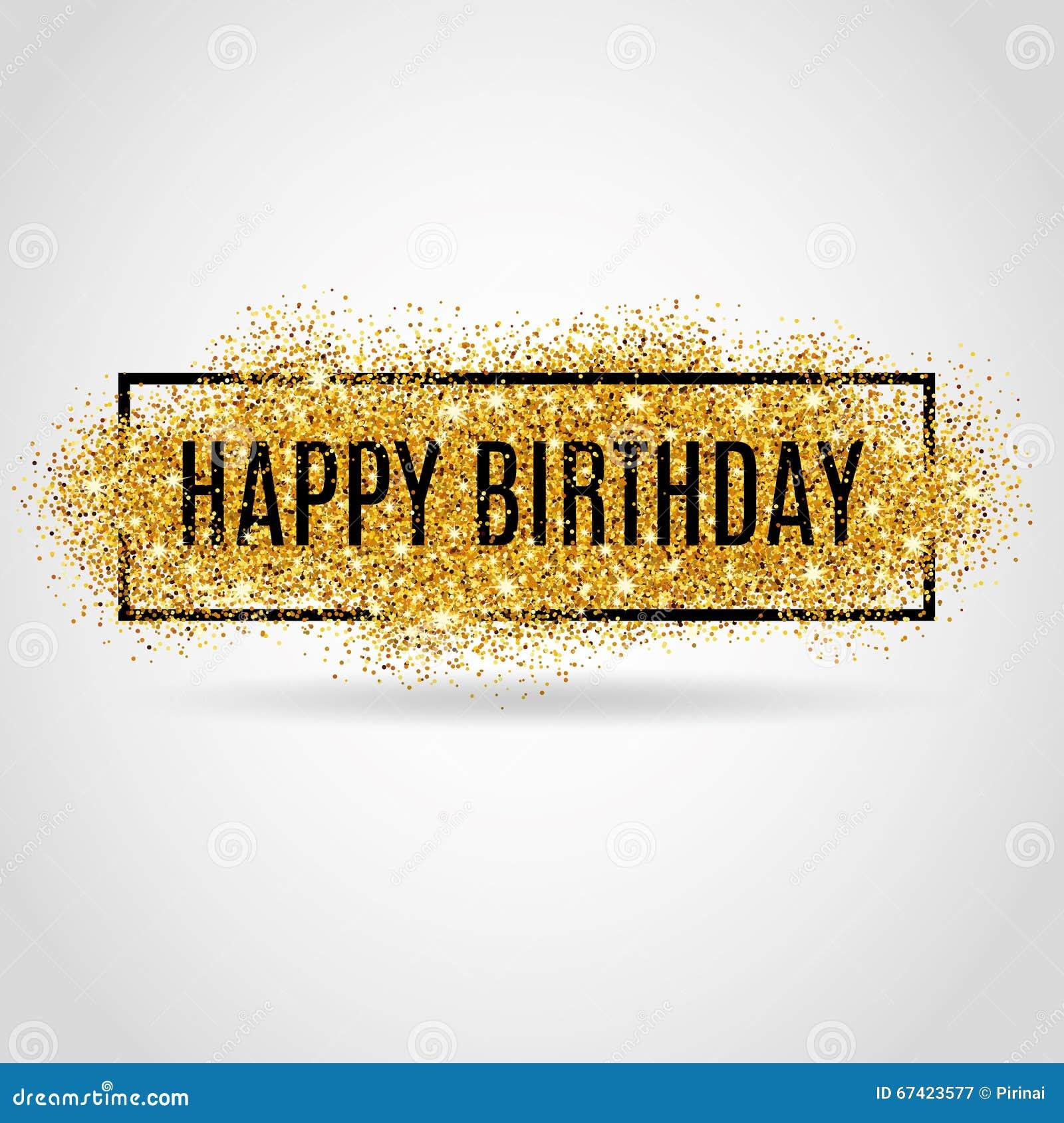 Gold Happy Birthday Stock Vector. Illustration Of Design