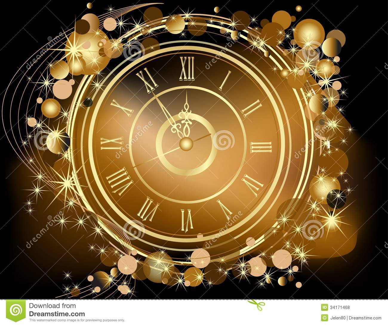 Gold Happy New Year Background Royalty Free Stock Photos - Image ...