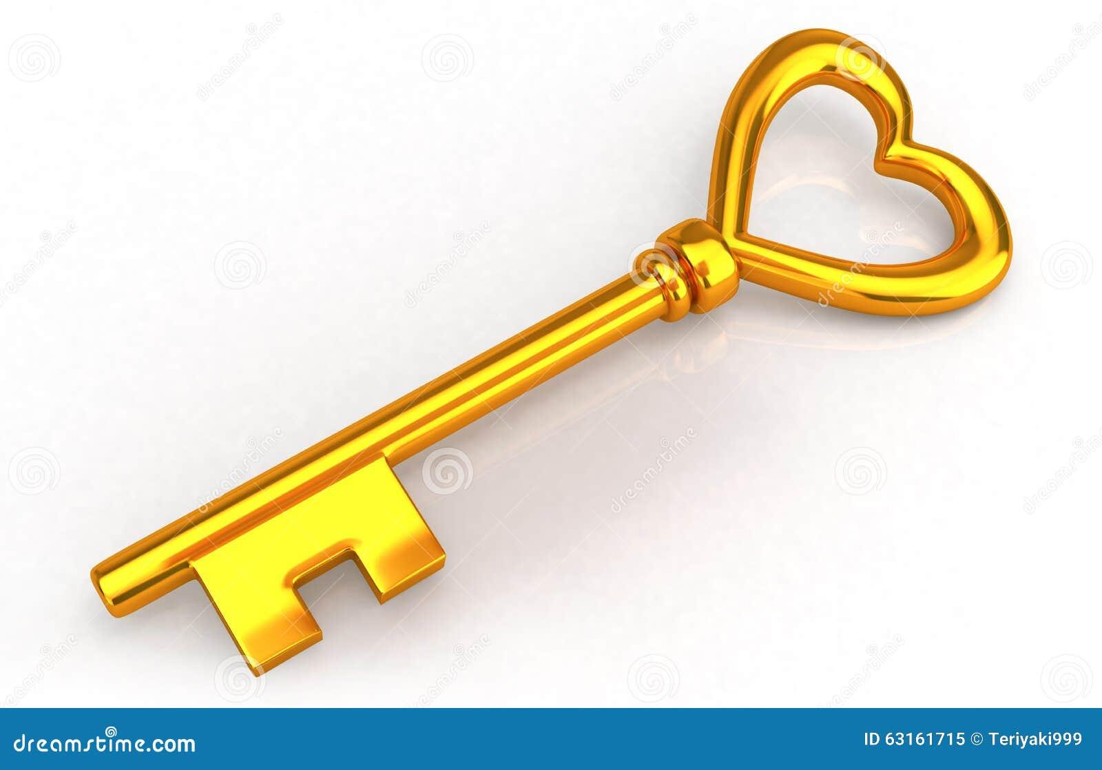 Open Concept House Plans Gold Heart Key Stock Illustration Illustration Of Open