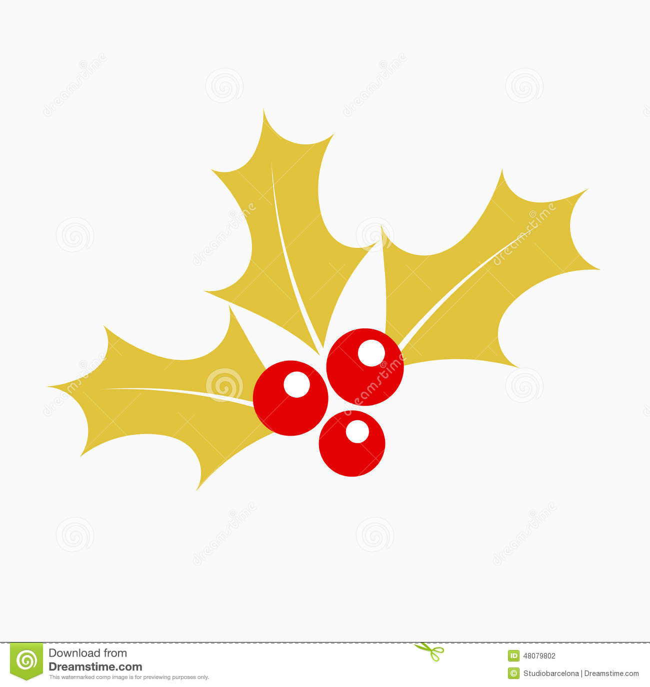 gold holly berry stock vector illustration of gold  holly holly berry clip art free holly berry leaves clip art