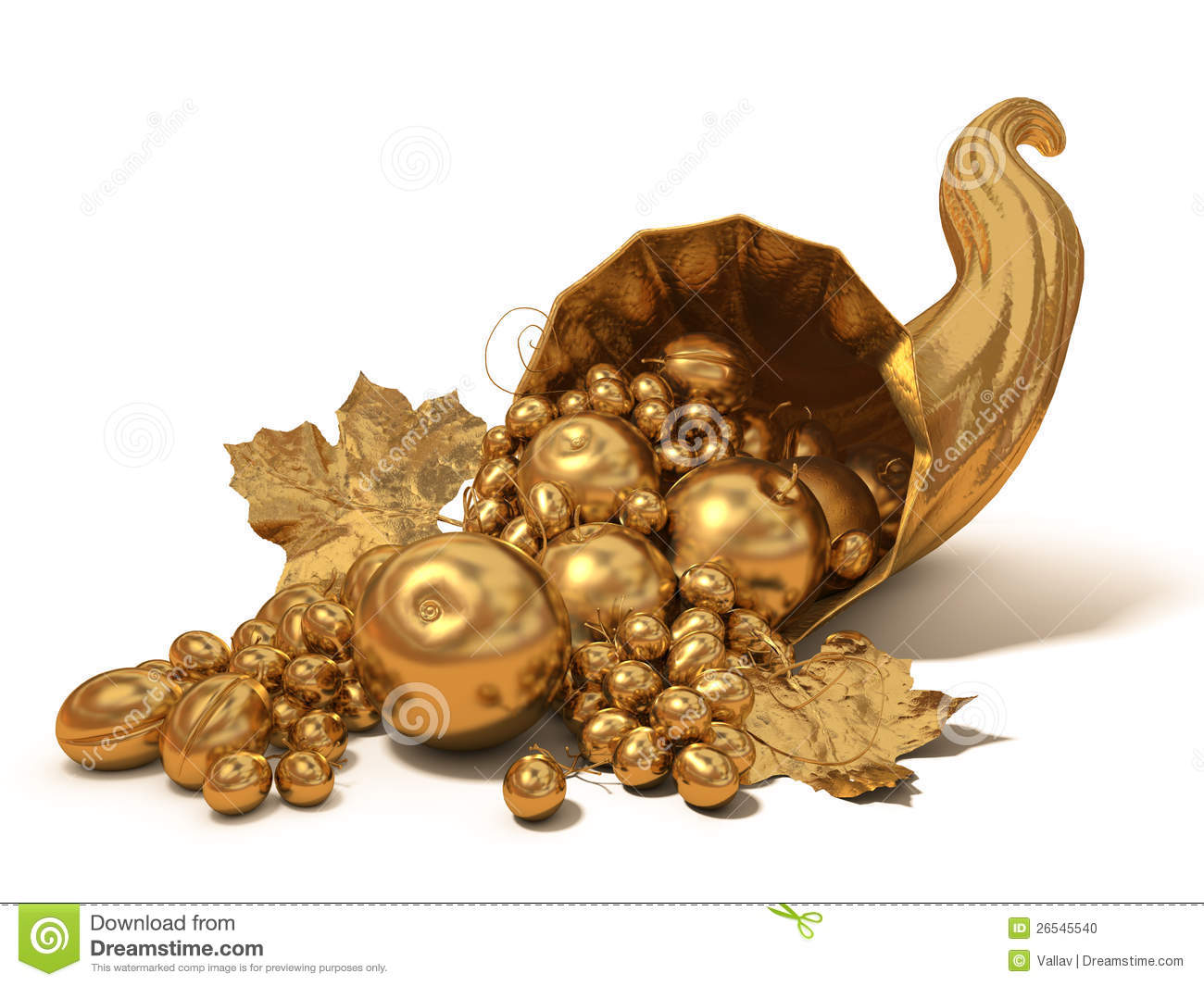 Gold Horn Of Plenty Stock Photo Image Of Gold Vine