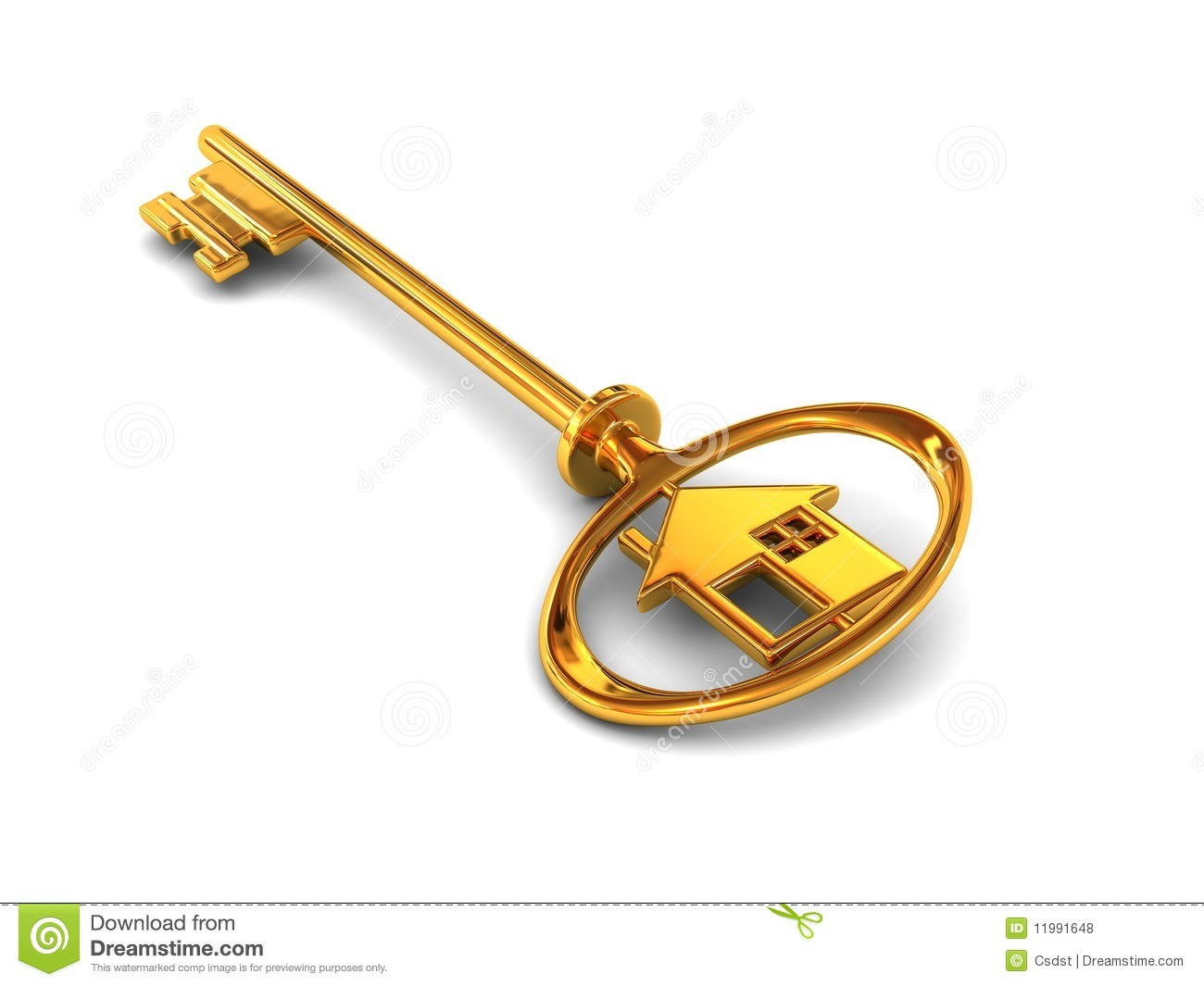 Gold House Key Royalty Free Stock Photos - Image: 11991648
