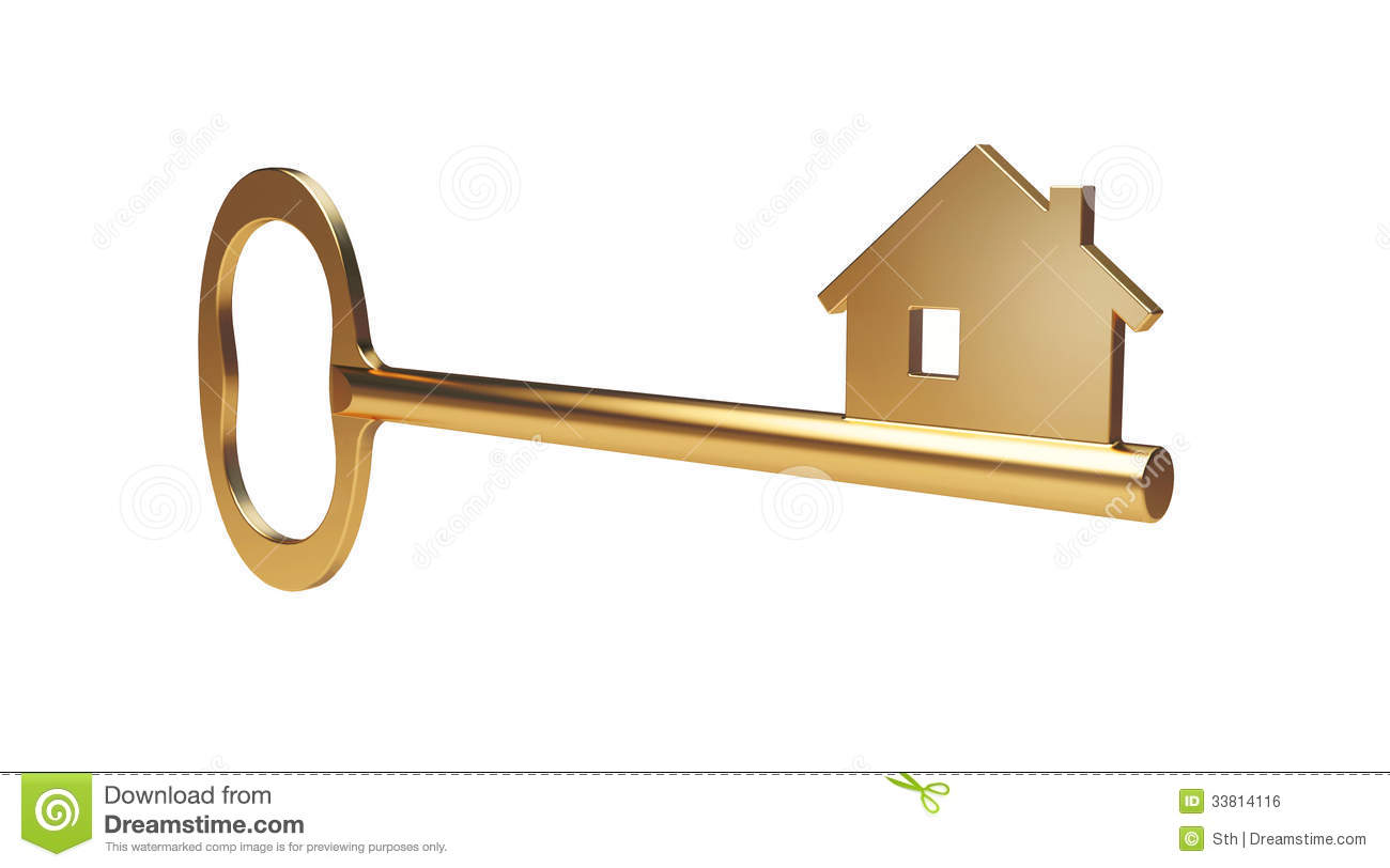 Gold House Key Royalty Free Stock Image Image 33814116