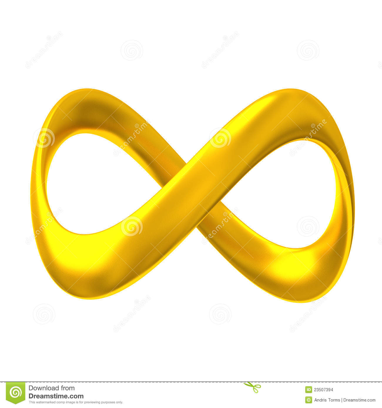 Gold Infinity 3d Stock Images - Image: 23507394