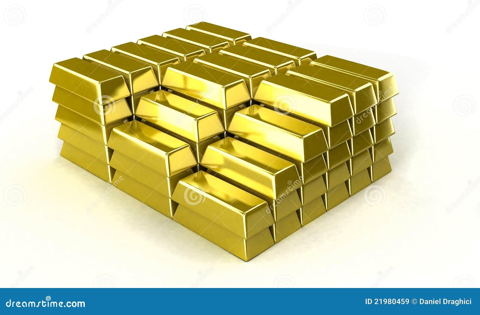 Gold Ingot Royalty Free Stock Images Image 21980459