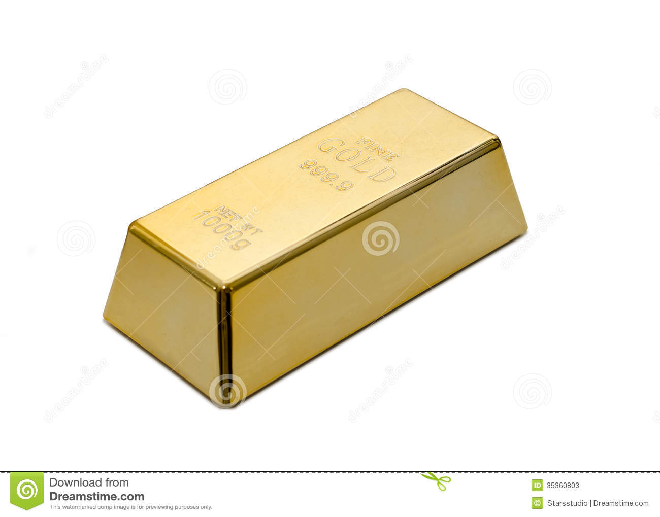 Gold Ingot Bullion Or Bar Stock Image Image Of Wealth