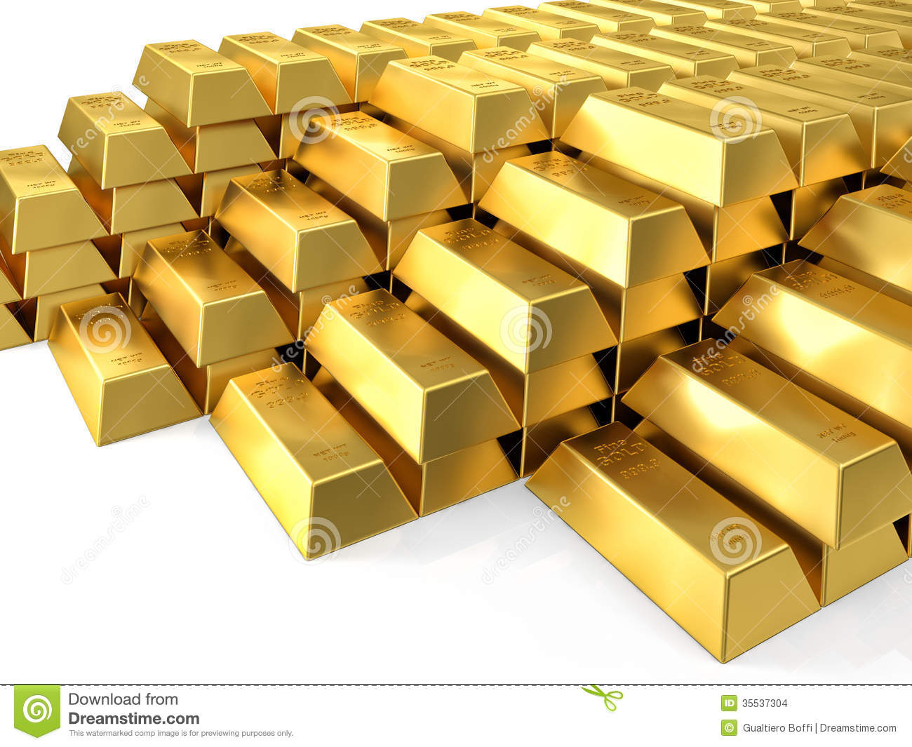 Gold Ingot Stock Images - Image: 35537304