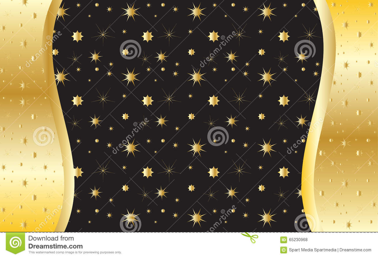 Gold invitation background stock vector illustration of gold invitation background vector gold shapes of the different stars on black background for creating beautiful greeting card art web print fabric stopboris Image collections