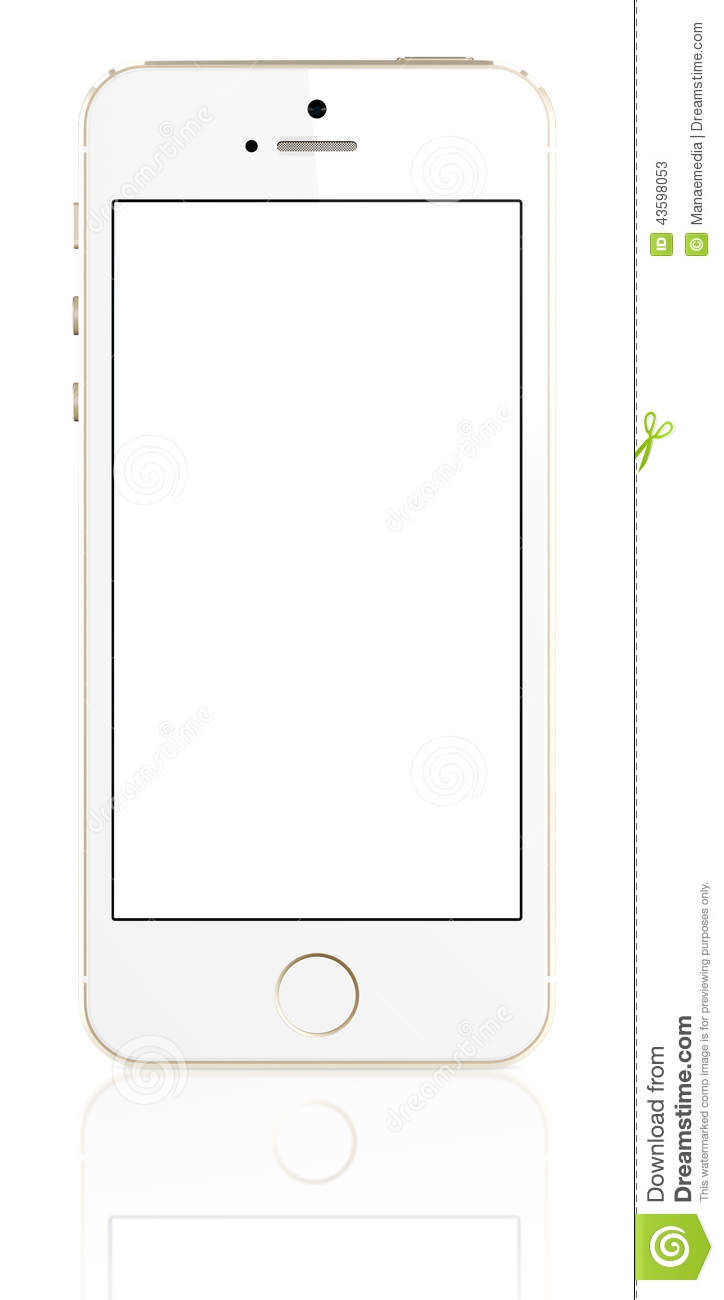 Gold IPhone 5s With Blank Screen Editorial Stock Photo ...