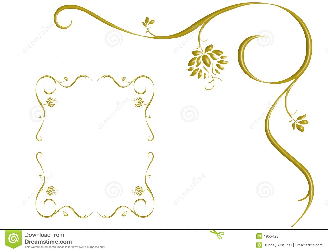 Gold Ivy Is Frame Design Love Stock Photos Image 1955423