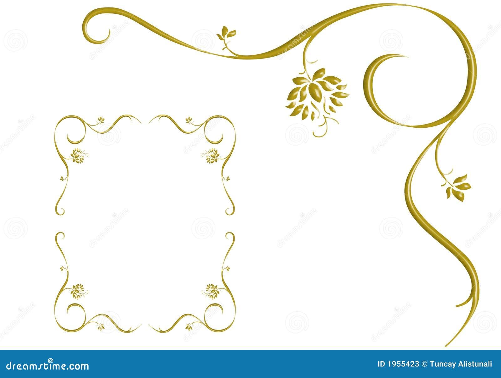 Love Frames Design Gold ivy is frame, design love