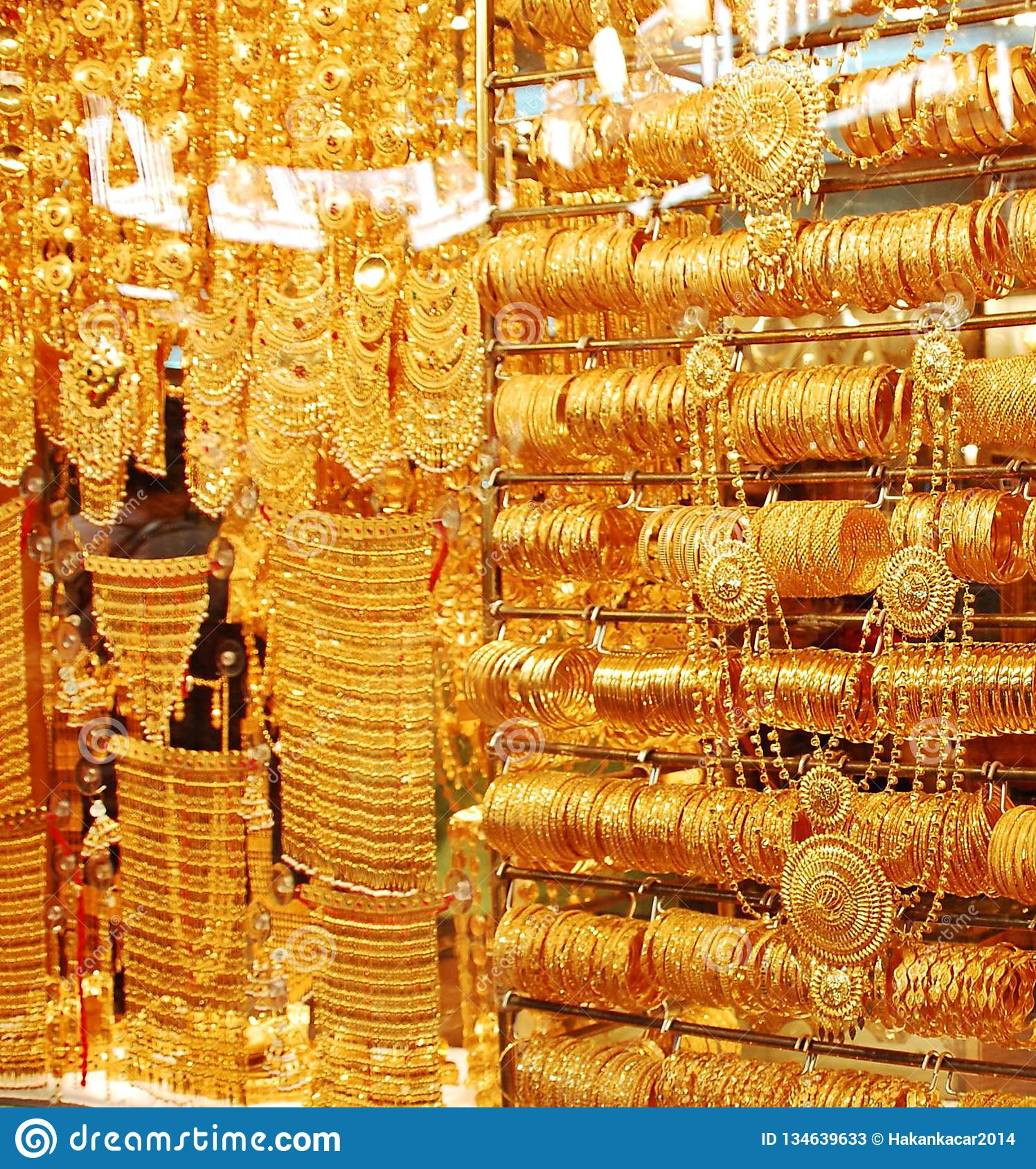 Gold Jewellery Shop Over Shops Sell Gold Jewelry At The