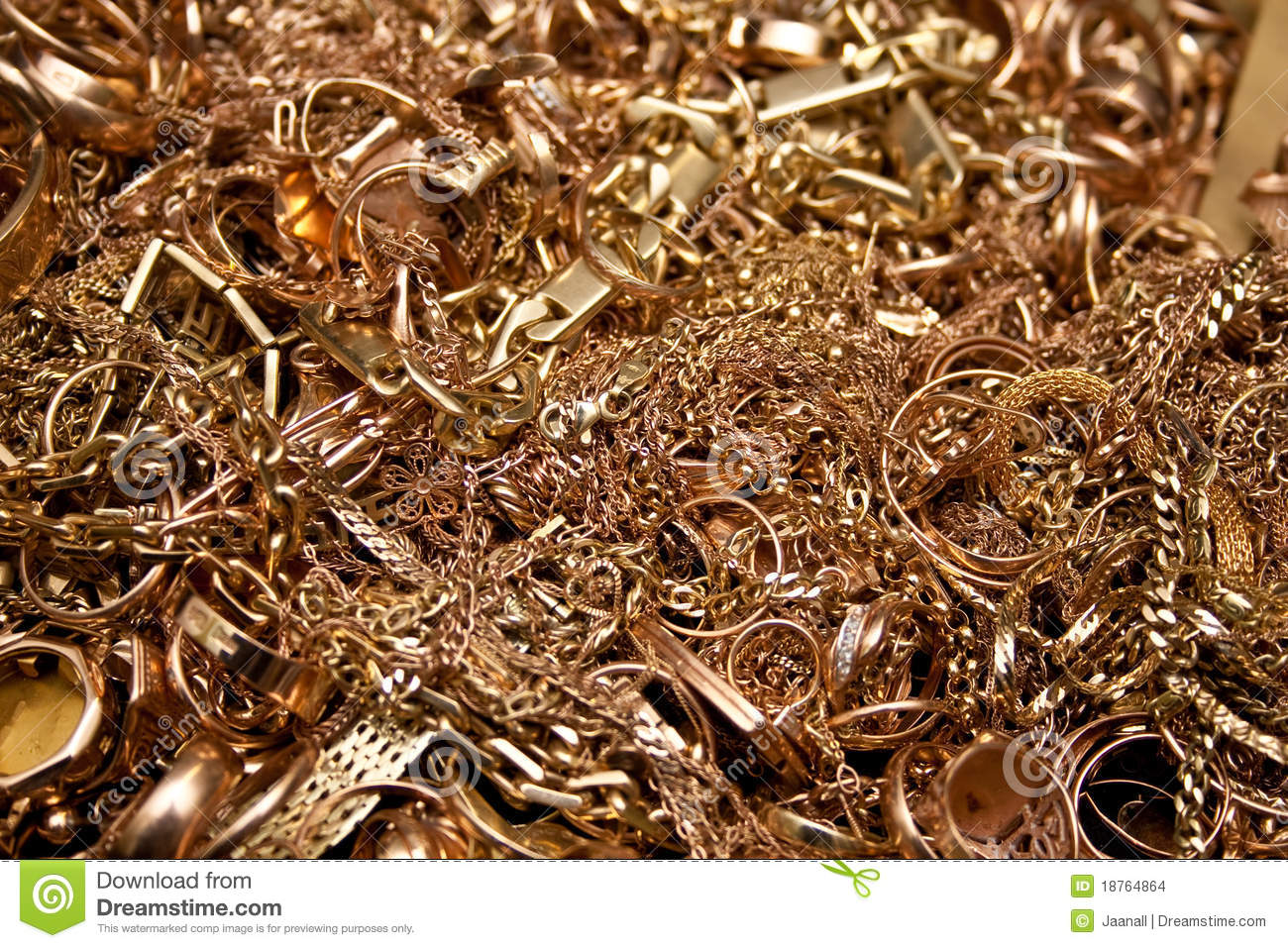 Gold Jewelry Stock Images Image 18764864