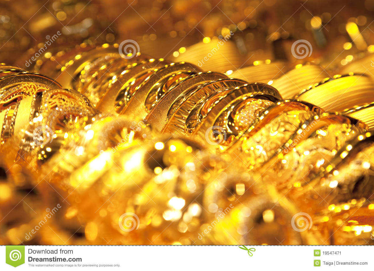 Gold Jewelry Background / Selective Focus Stock Image - Image of ...