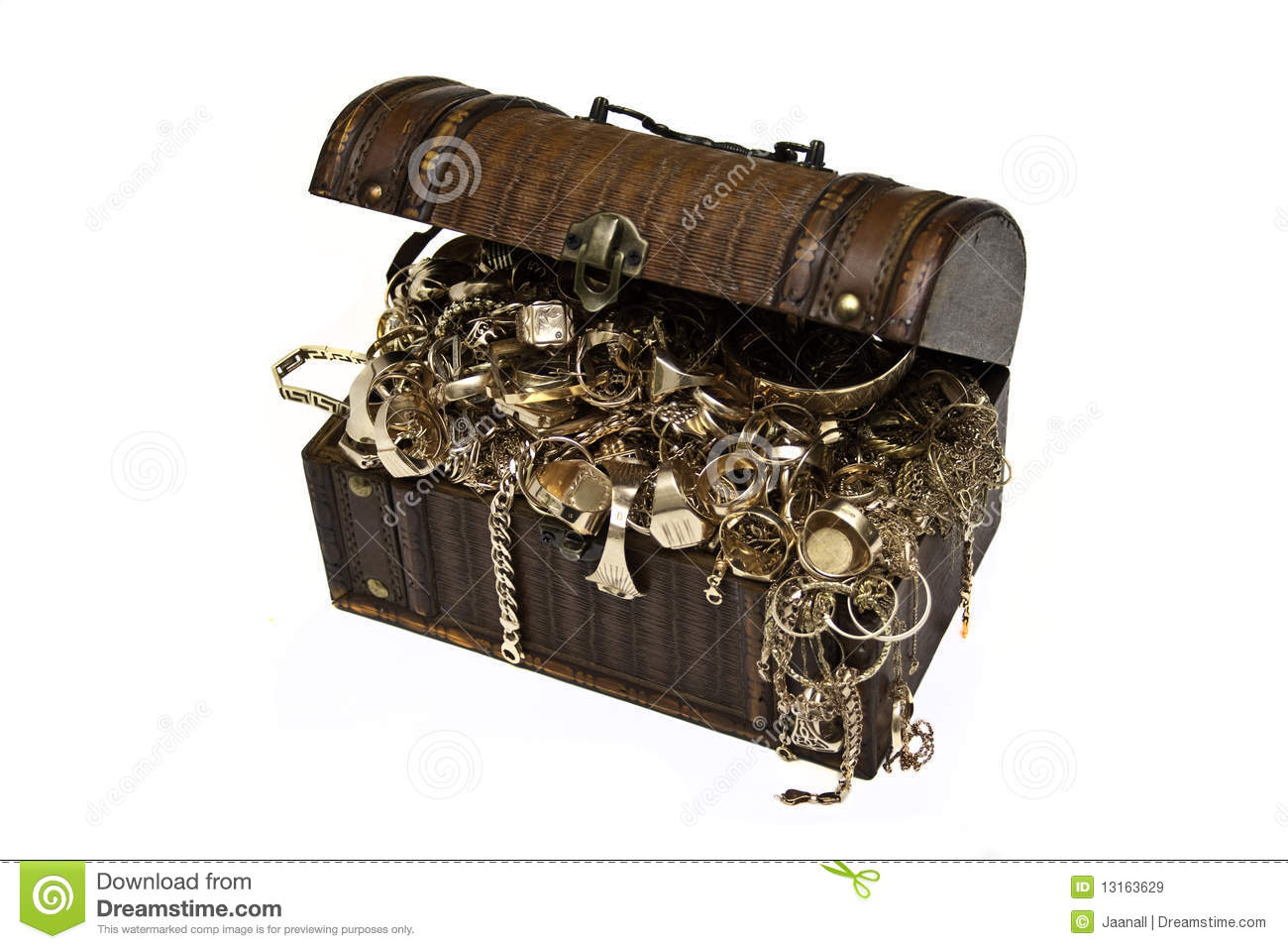 Gold Jewelry Chest Royalty Free Stock Images Image 13163629