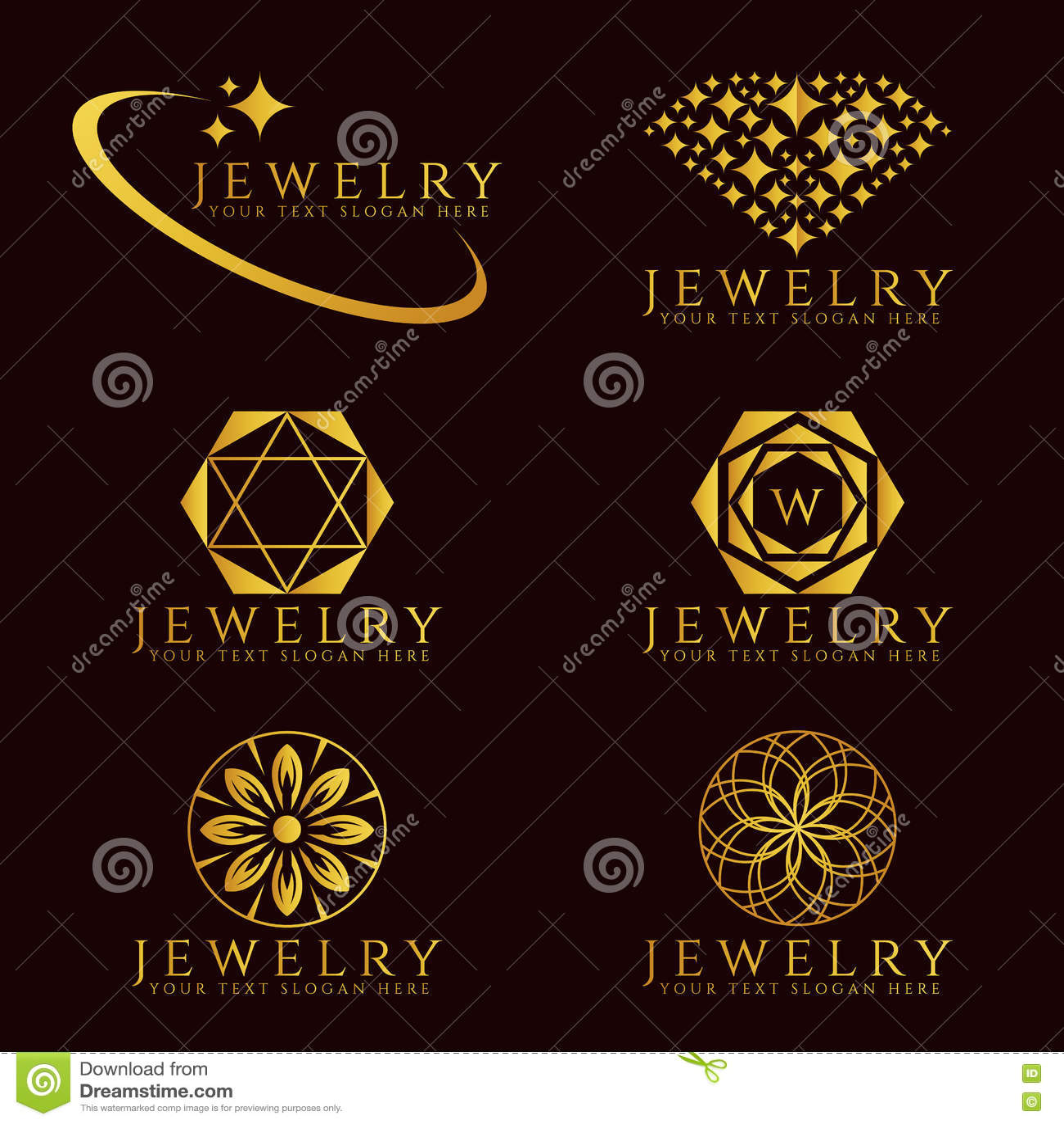 Set Of Vector Jewelry Line Seamless Pattern. Diamond ...