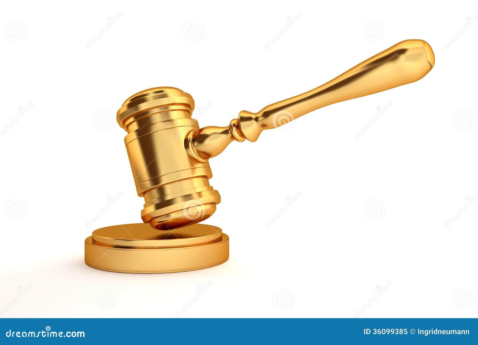 Gold Judge's Gavel Royalty Free Stock Photo - Image: 36099385