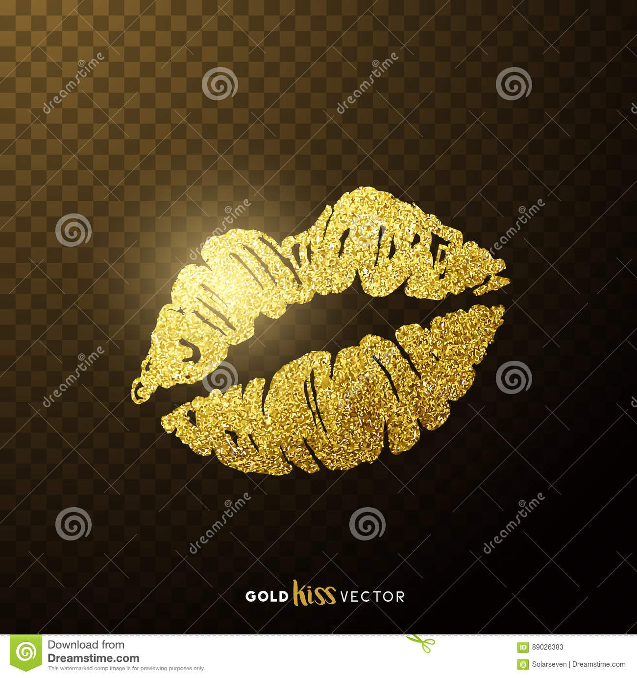 Gold Kissing Lips