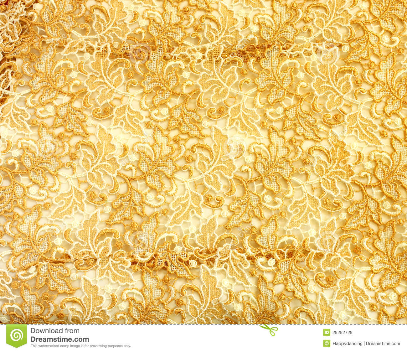 Gold Lace Pattern Fabric Royalty Free Stock Images Image