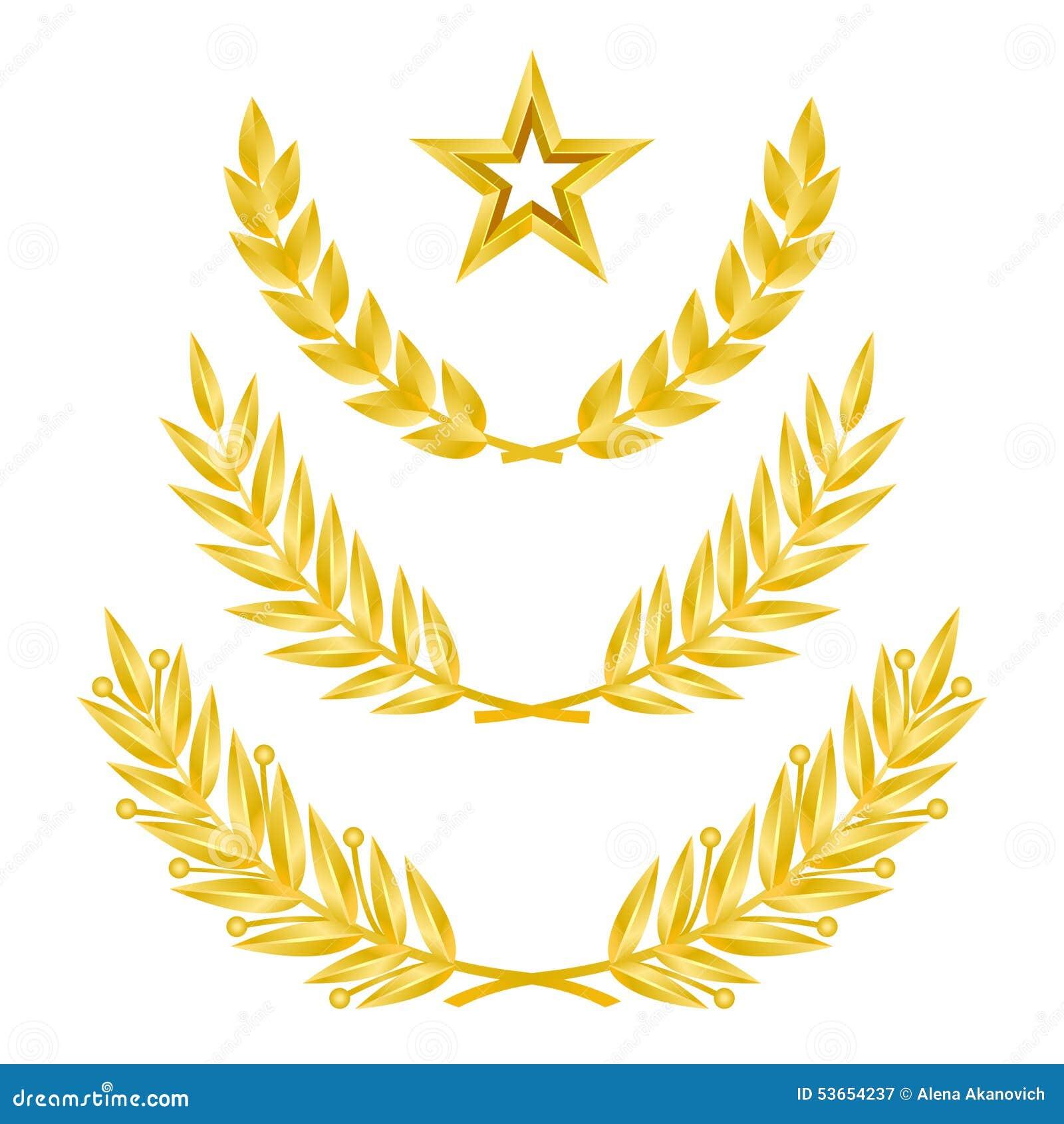 Gold Laurel Wreath Stock Vector Image Of Design Rating