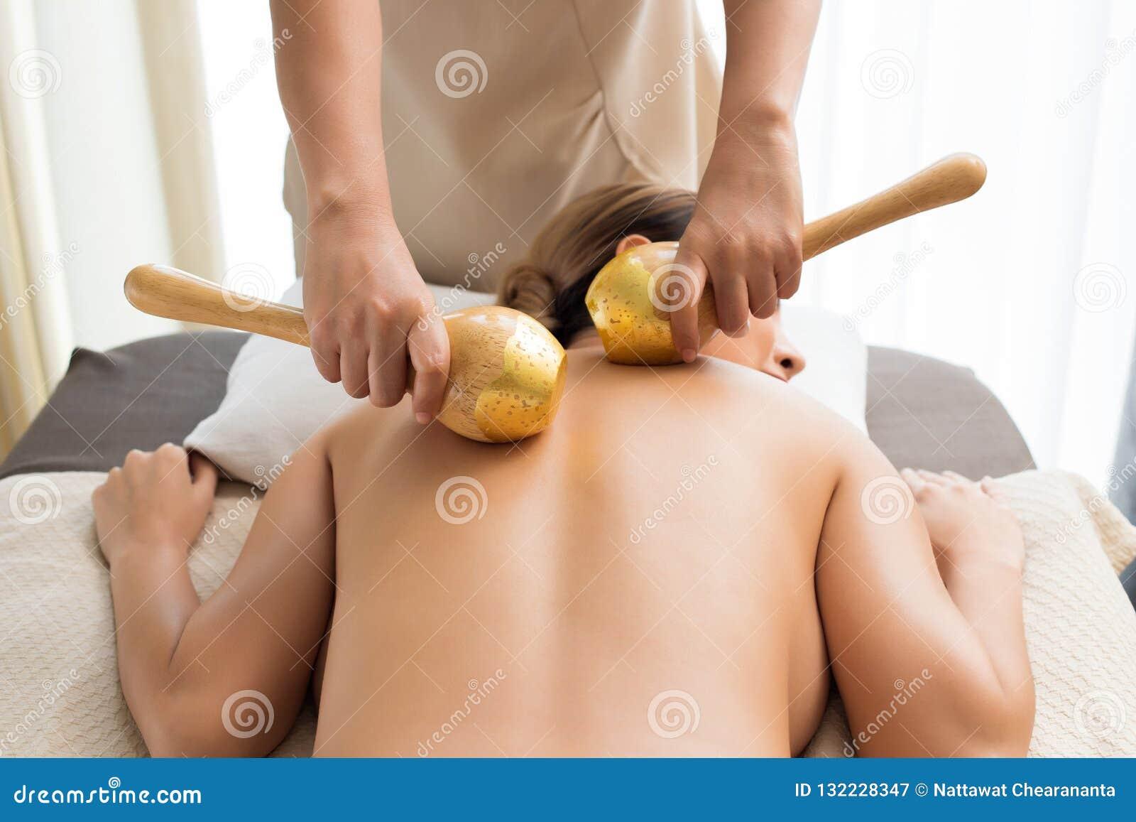 Gold Leaf Golden Wood Pressure Spa Massage Stock Image Image Of Lifestyle Procedure 132228347