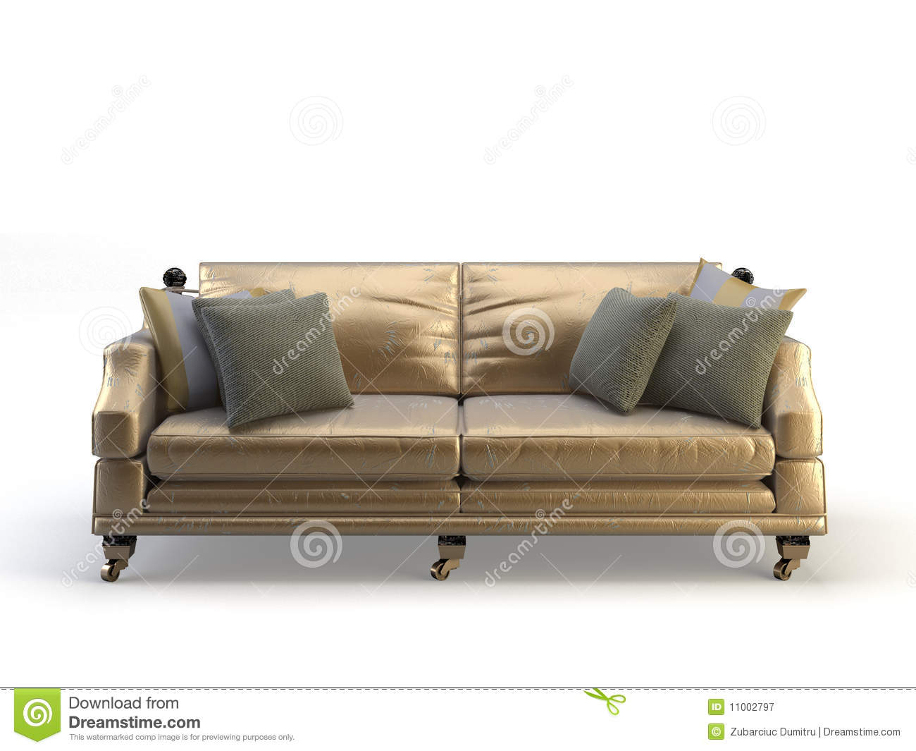 Gold Leather Sofa Tufted Gold Leather Sofa At 1stdibs