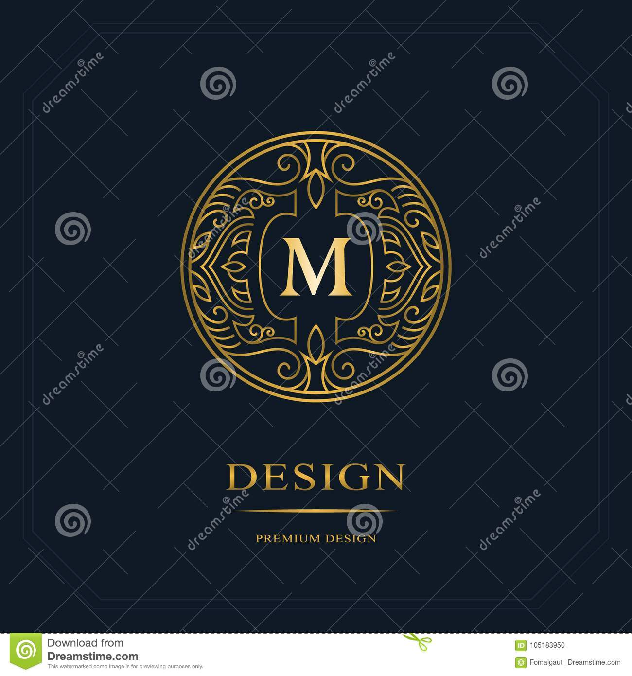 Gold line graphics monogram elegant art logo design letter m elegant art logo design letter m graceful template business sign identity for restaurant royalty boutique cafe hotel heraldic jewelry fashion flashek Image collections