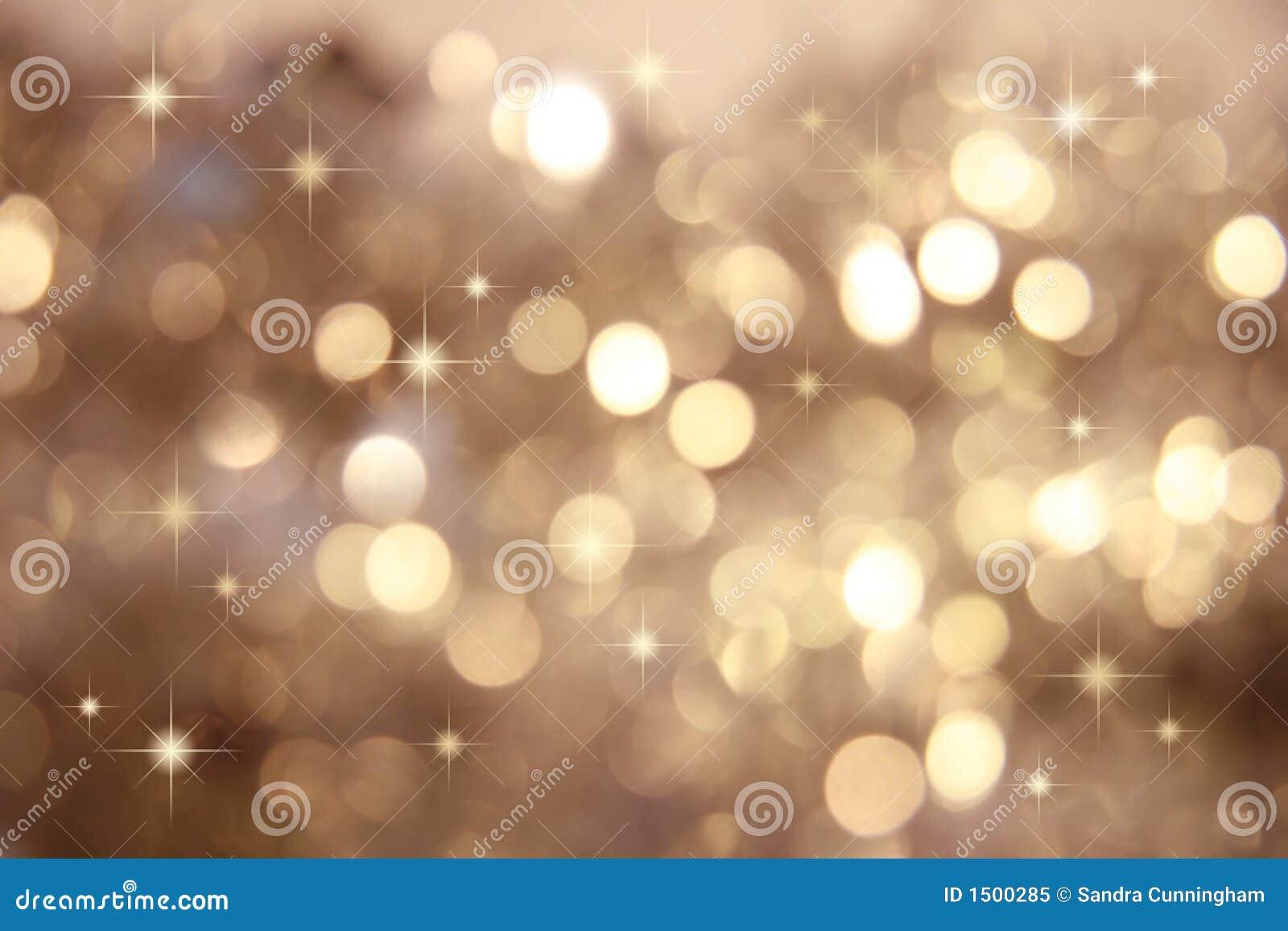 Gold little stars twinkle
