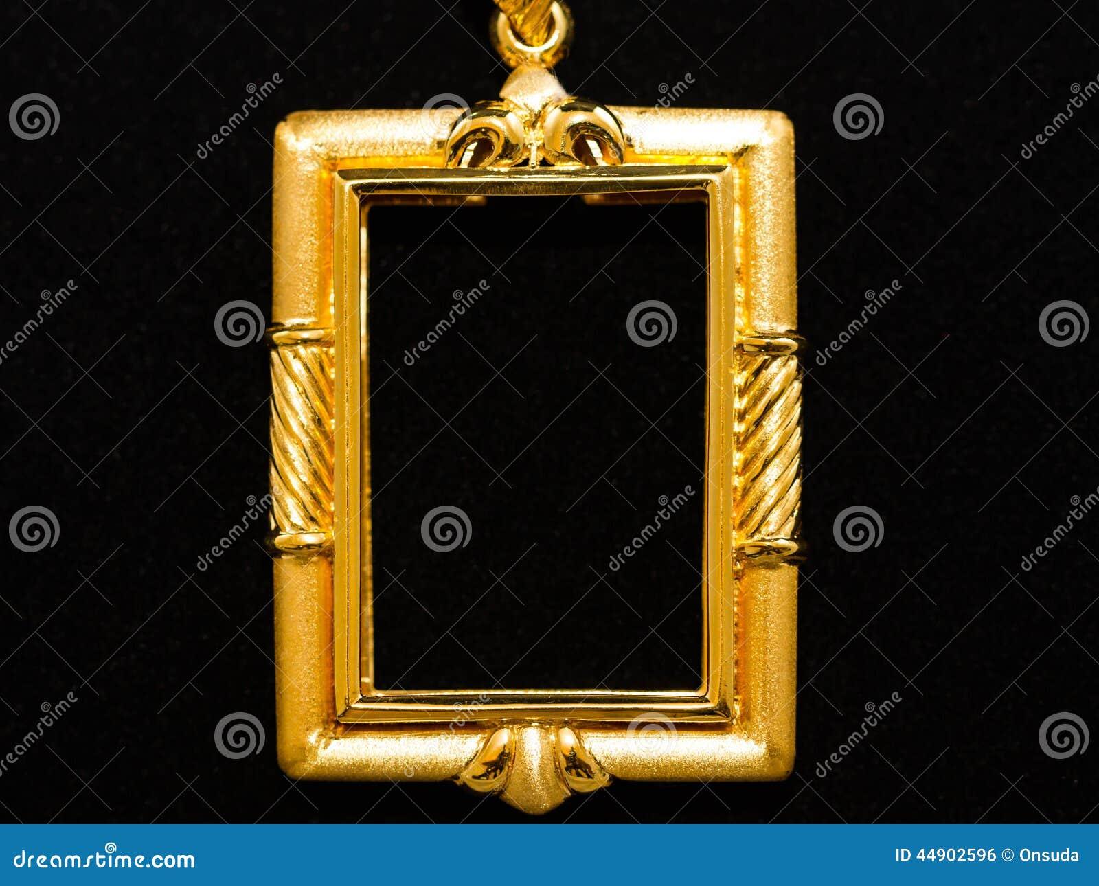 Gold locket frame pendant stock photo image of enchase 44902596 gold locket frame pendant aloadofball Gallery