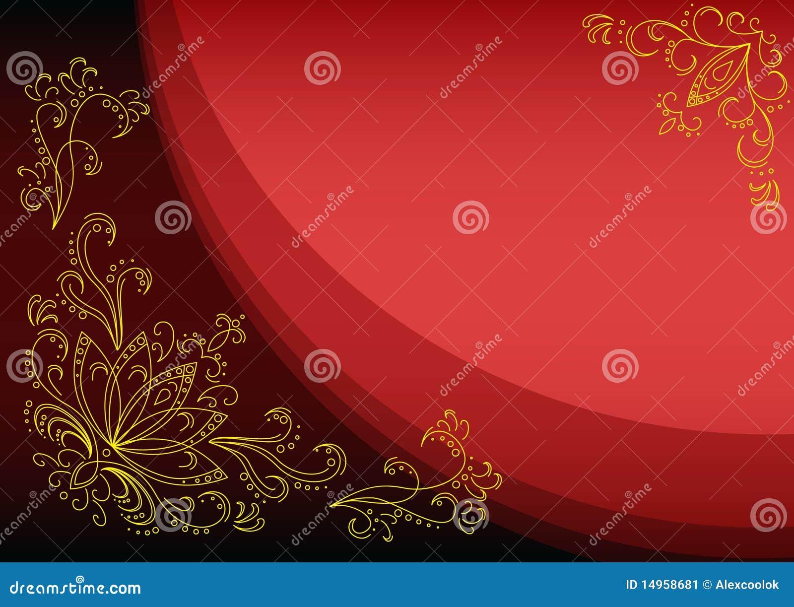 scarlet background