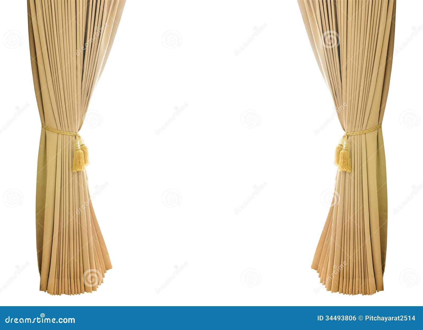 Gold Luxury Curtains Royalty Free Stock Image Image