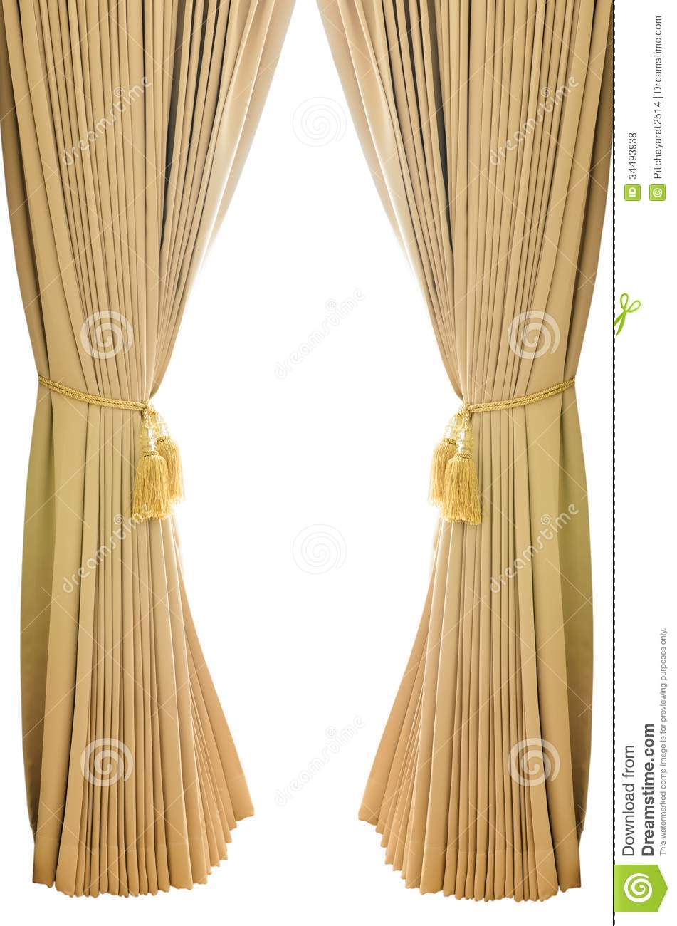 background curtains gold isolated luxury