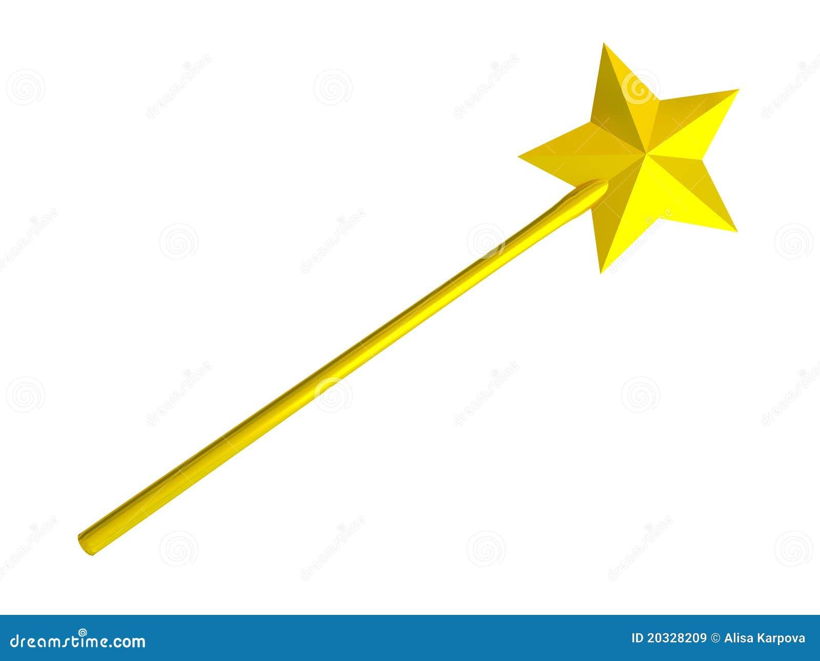gold magic wand stock illustration illustration of hopes Magic Wand Clip Art Black and White harry potter magic wand clipart