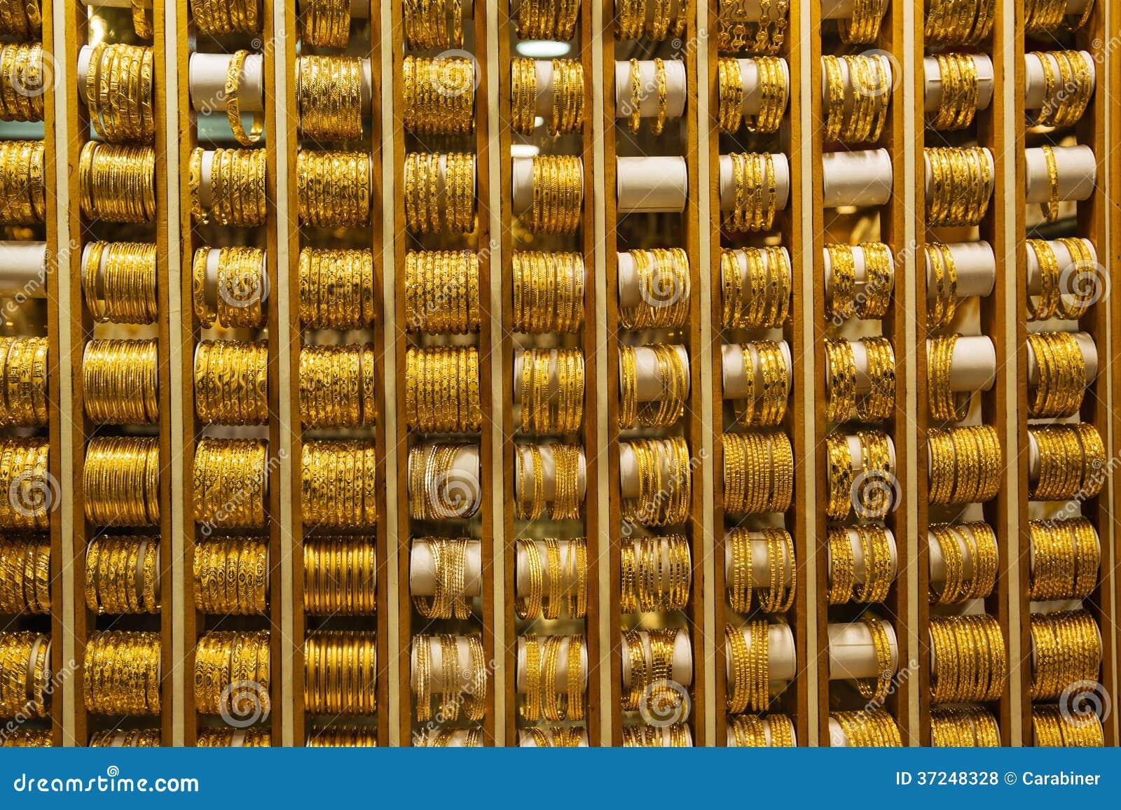 Gold Market In Dubai Royalty Free Stock Photos Image