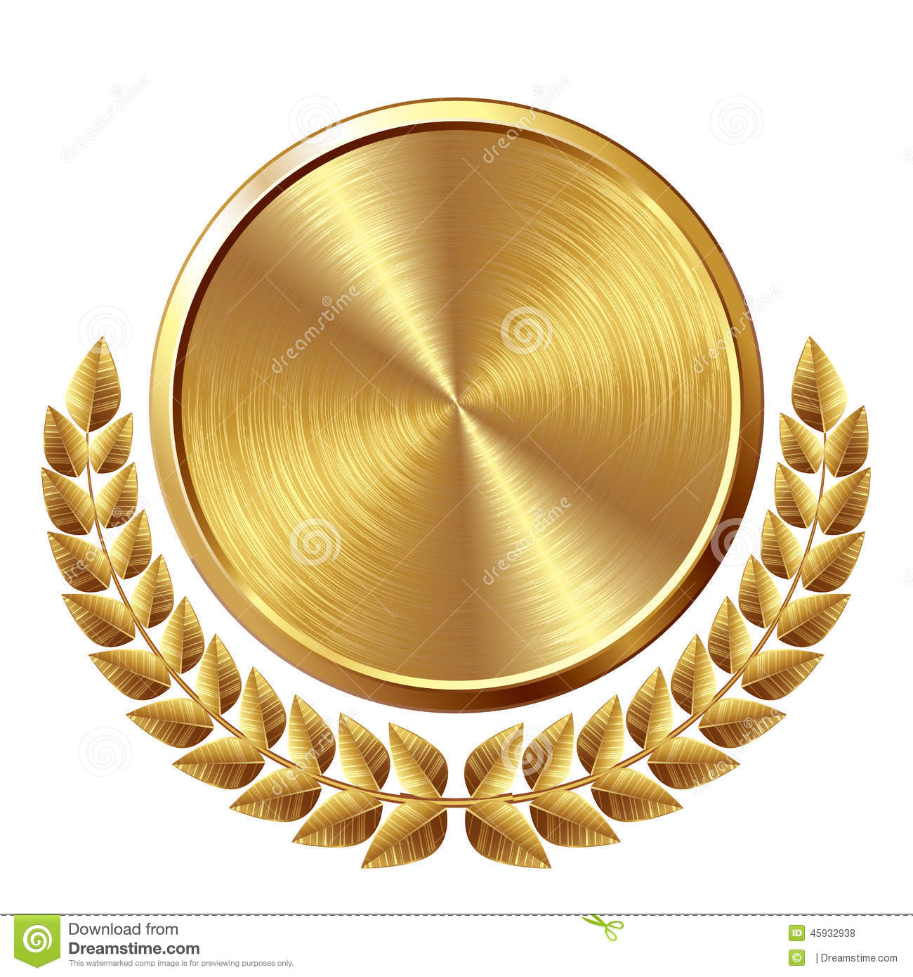 Gold Medal Stock Vector Image 45932938