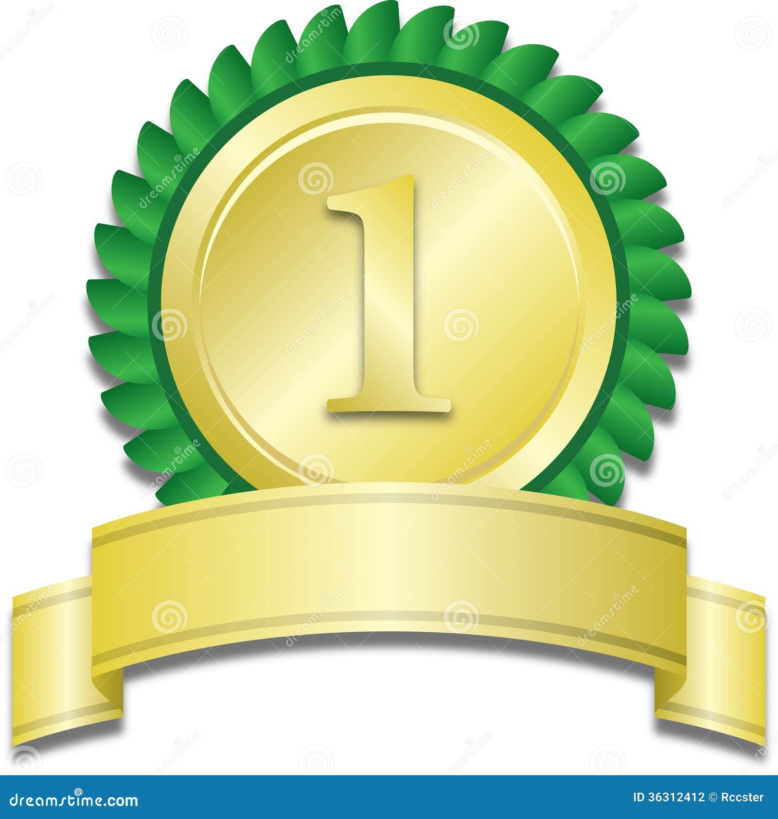 Gold Medal Stock Vector Illustration Of First Winning