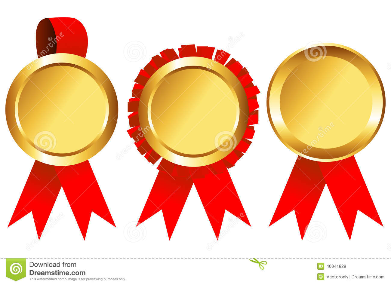 Gold Medal Set Stock Vector