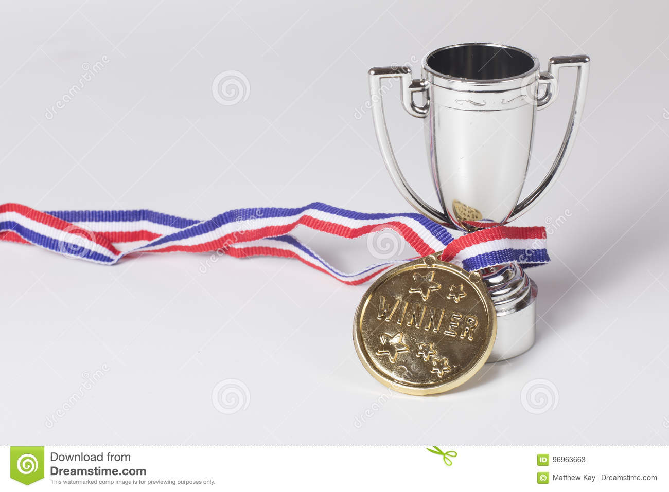 Gold medal winner and silver trophy