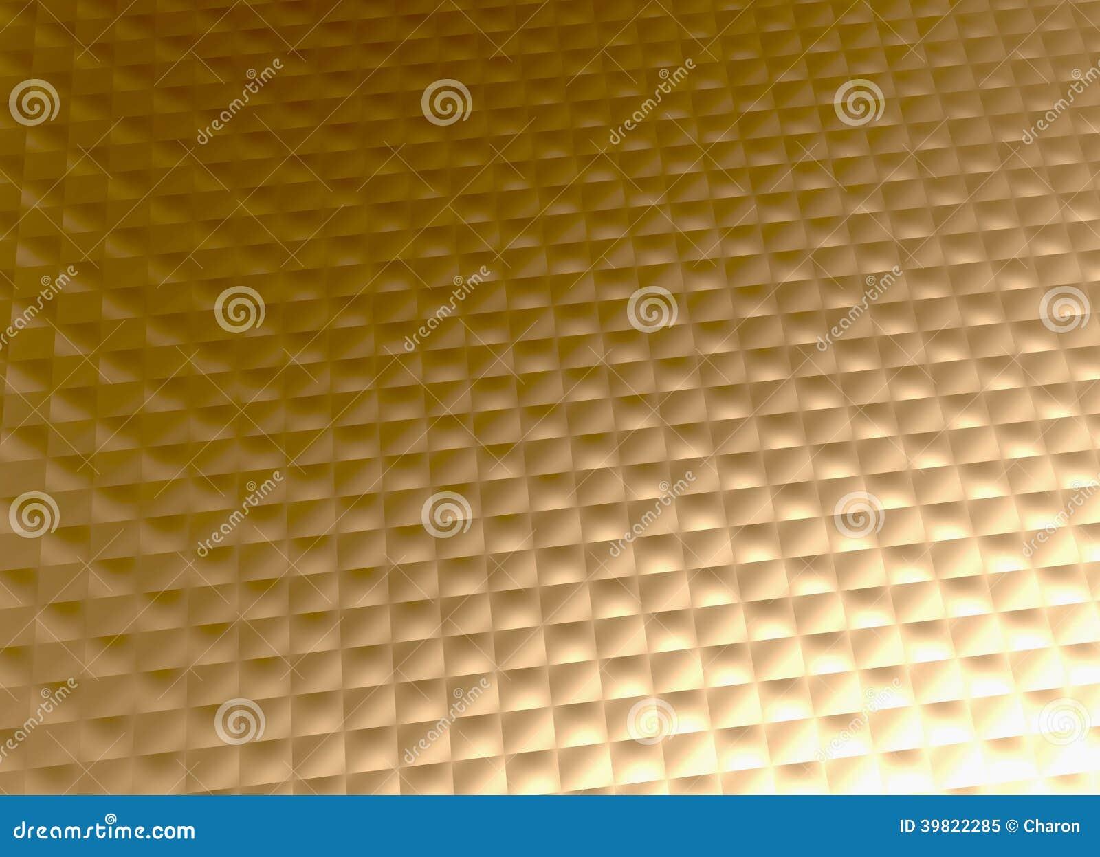 Gold Metal Background Golden Grid Pattern Stock Photo