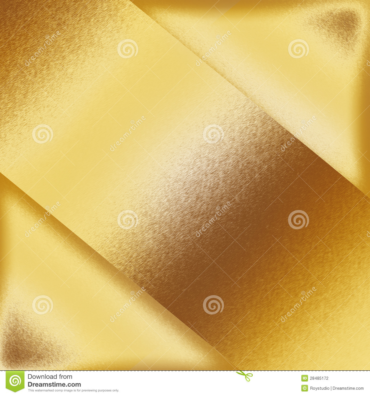 Gold Metal Background Texture Metal Plate Shapes As