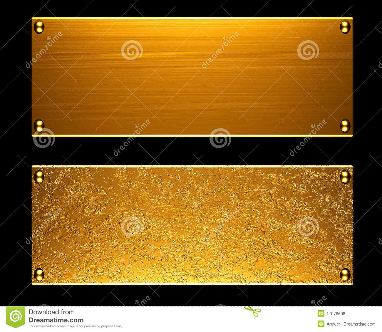Gold Metal Plate Background Royalty Free Stock Photos