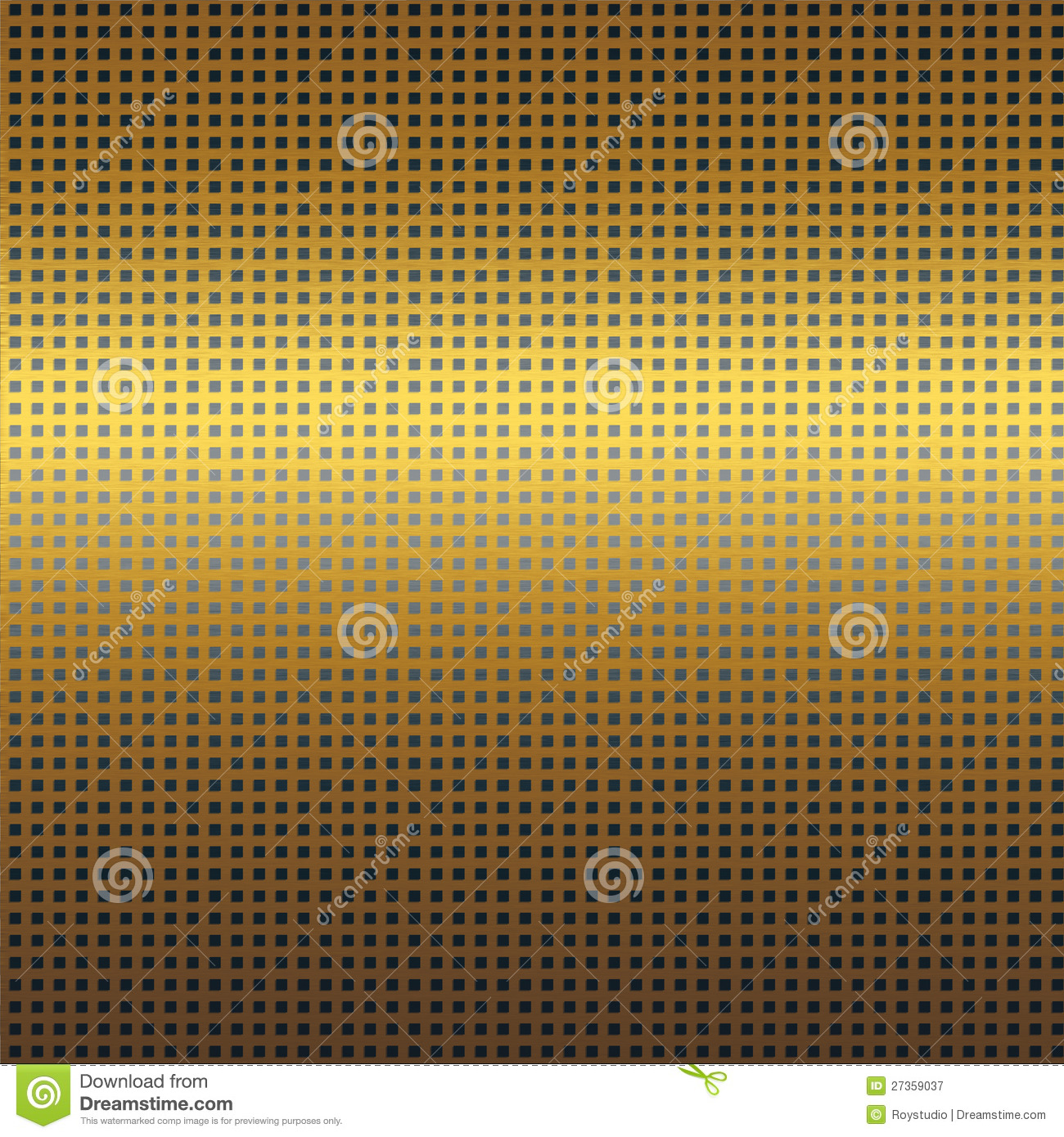 Gold Metal Texture Background With Black Grid Seamless