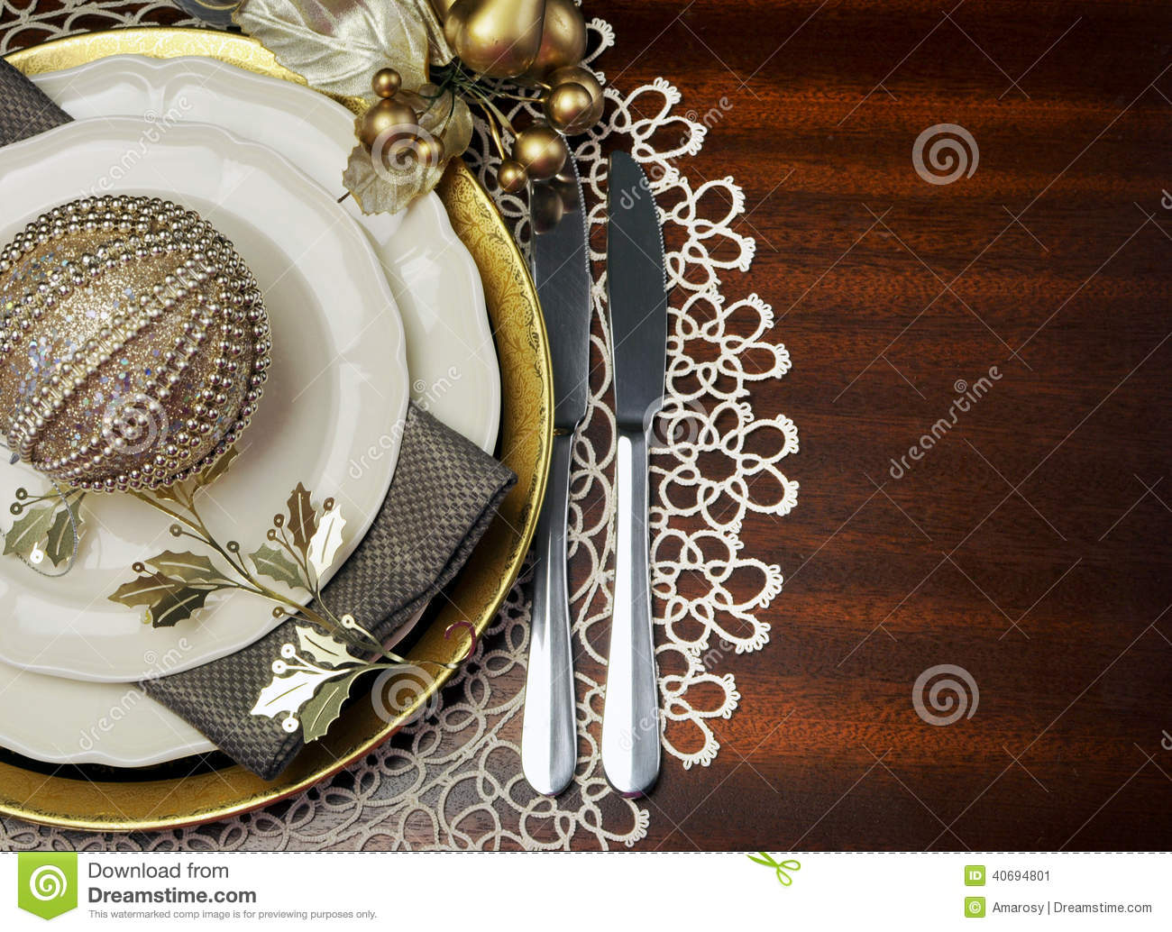 FORMAL DINNER TABLE SETTING Stock Image - Image of course, crockery ...
