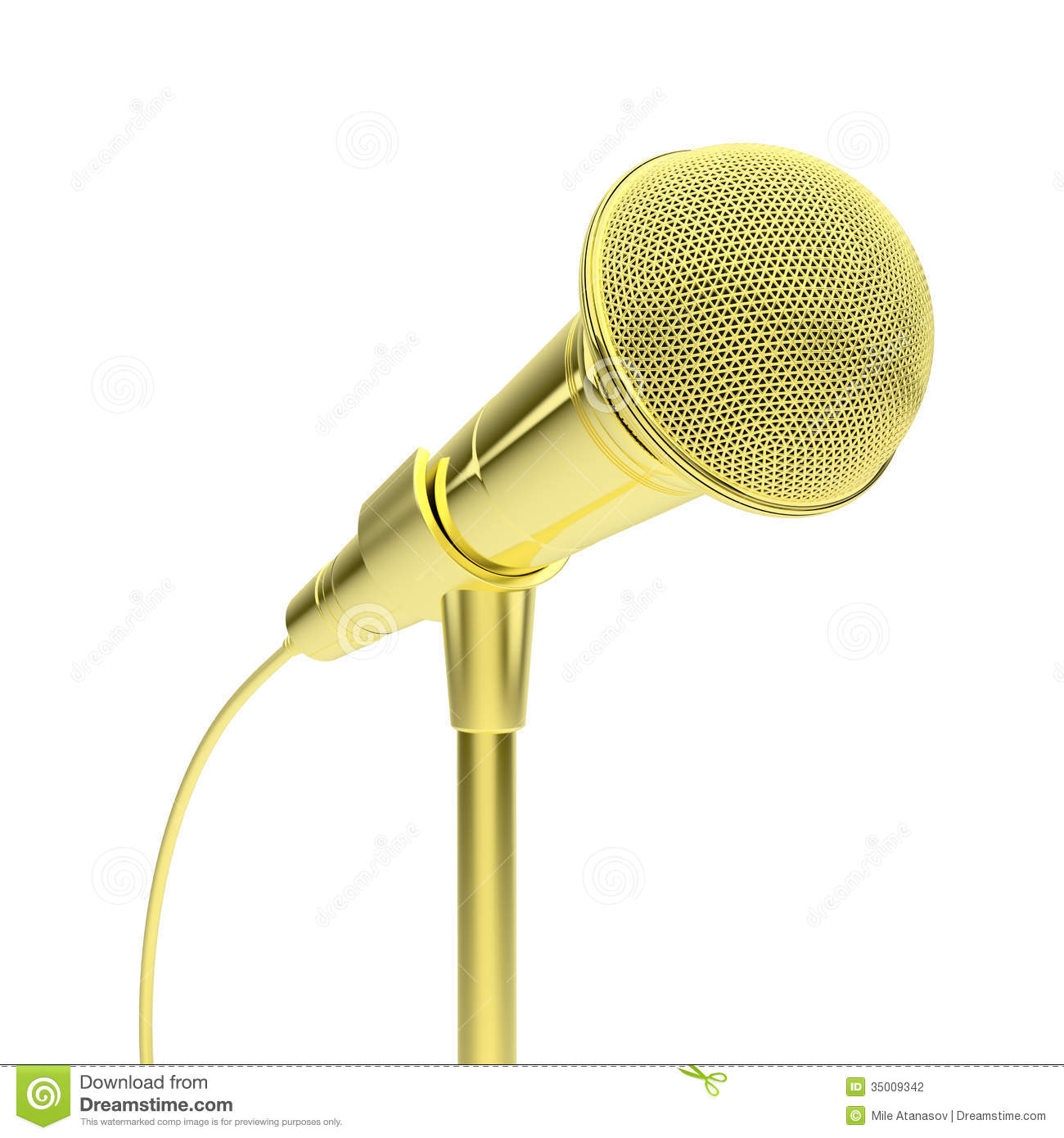 Gold Microphone Stock ...