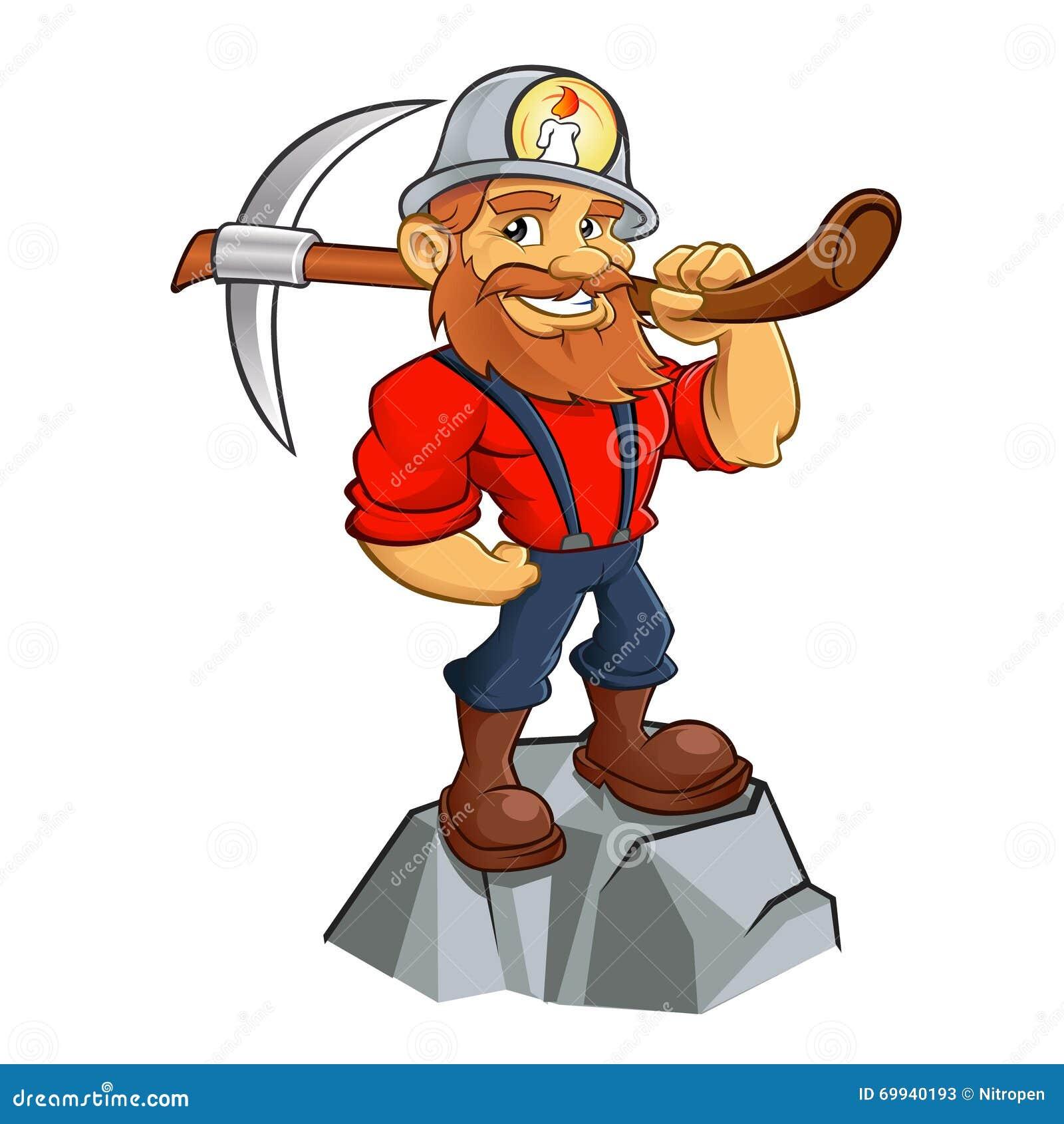 gold miner cartoon stock vector illustration of nugget