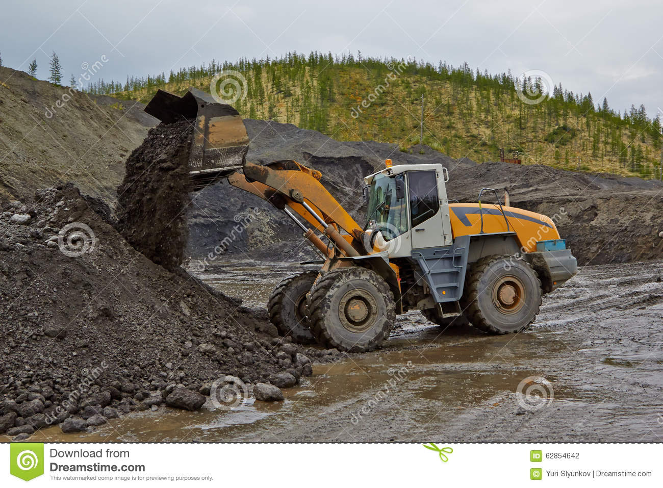 Gold mining in Susuman. The auto-loader works