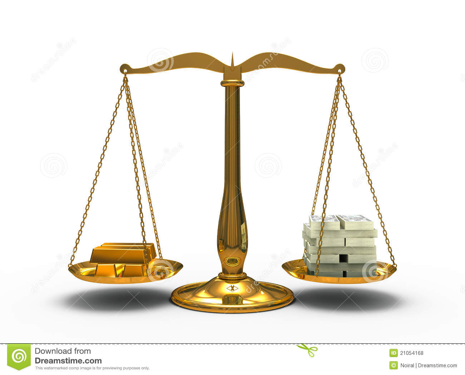 Gold And Money Balance Royalty Free Stock Photos - Image ...